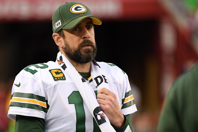 Aaron Rodgers is among a prominent group of NFL players speaking out against the proposed CBA. (Photo by Harry How/Getty Images)