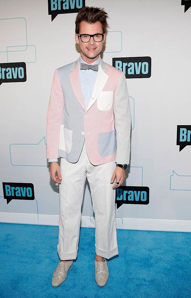 "<p class=""MsoNoSpacing"">Maybe Brad Goreski is just a big fan of Easter? The stylist and star of ""It's a Brad, Brad World"" hit the Bravo Upfronts on Wednesday in a pastel blazer that resembled a dyed egg. Although he paired the look with pants that were one simple color, they were a few inches too short. (4/4/2012)</p>"