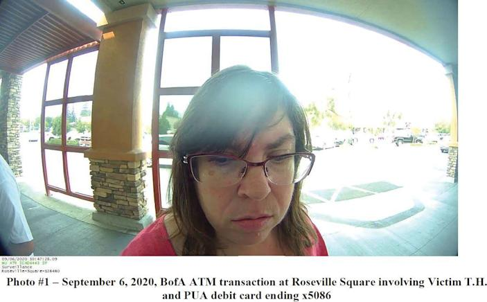 Andrea Gervais, pictured here in an ATM photo included in court filings