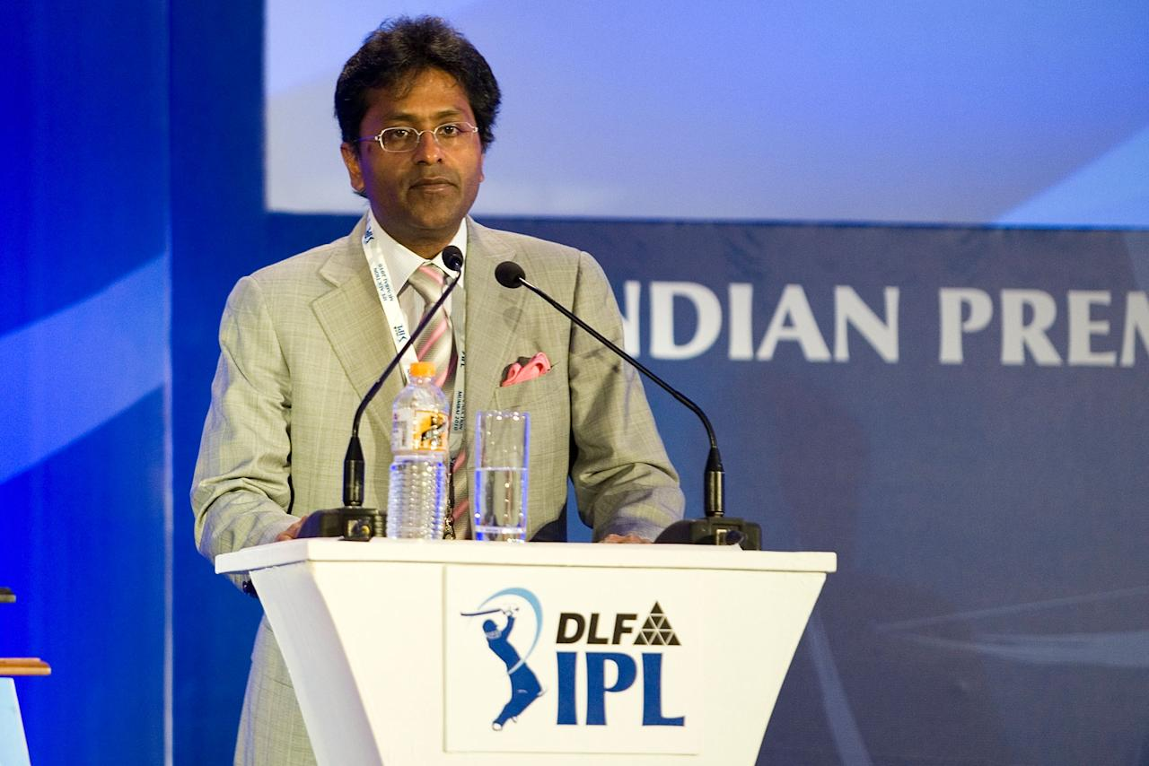 Lalit Modi, Chairman and Commissioner of Indian Premier League, attends the IPL Auction 2010 on January 19, 2010 in Mumbai, India.
