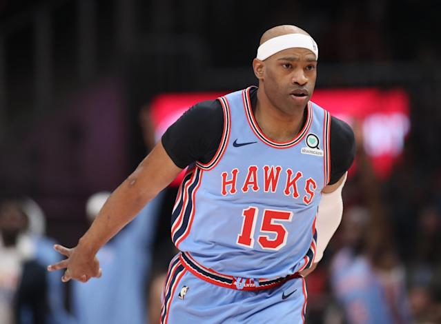 "Vince Carter is reportedly returning to the <a class=""link rapid-noclick-resp"" href=""/nba/teams/atlanta/"" data-ylk=""slk:Atlanta Hawks"">Atlanta Hawks</a> for his 22nd NBA season. (Reuters)"