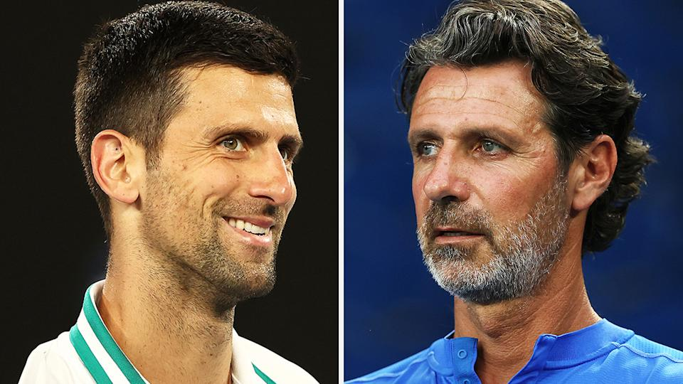 Serena Williams' coach Patrick Mouratoglou says Novak Djokovic isn't above embellishing an injury to gain a mental advantage over his opponents. Pictures: Getty Images