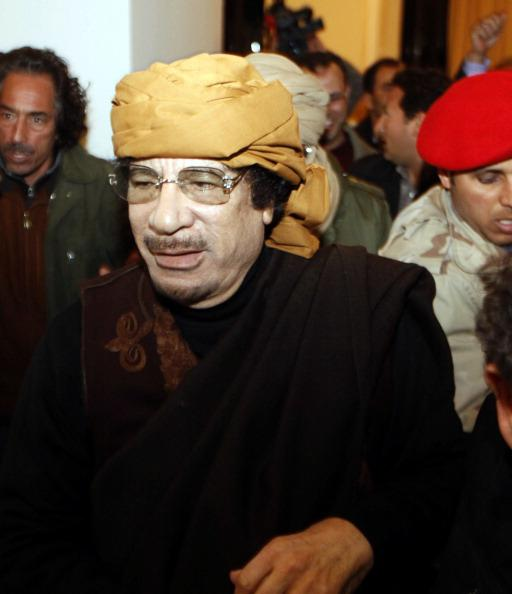 Muammar Gaddafi ruled over Libya for more than 40 years before he was overthrown during a fierce civil war. He was eventually captured and killed near his hometown of Sirte. June, 1942 - October 20, 2011. (Photo by MAHMUD TURKIA/AFP/Getty Images)