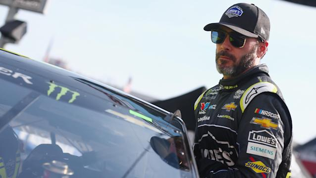 "Jimmie Johnson just needs to stay ahead of teammate <a class=""link rapid-noclick-resp"" href=""/nascar/sprint/drivers/3188/"" data-ylk=""slk:Alex Bowman"">Alex Bowman</a> at Indianapolis. (Getty)"