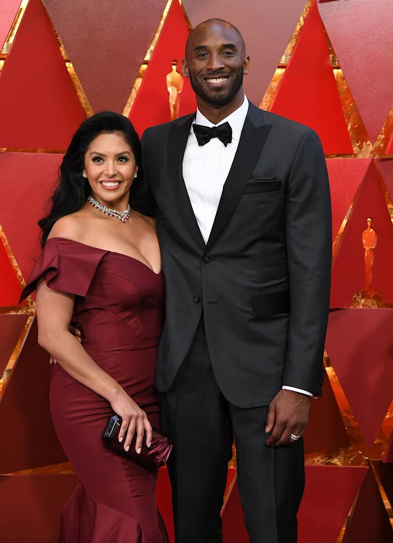 US basketball player Kobe Bryant (R) and his wife Vanessa Laine Bryant arrive for the 90th Annual Academy Awards on March 4, 2018, in Hollywood, California. (Photo by ANGELA WEISS / AFP) (Photo by ANGELA WEISS/AFP via Getty Images) (Photo: ANGELA WEISS via Getty Images)