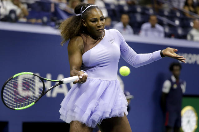 "<a class=""link rapid-noclick-resp"" href=""/olympics/rio-2016/a/1132744/"" data-ylk=""slk:Serena Williams"">Serena Williams</a> is on the verge of tennis history. (AP Photo)"