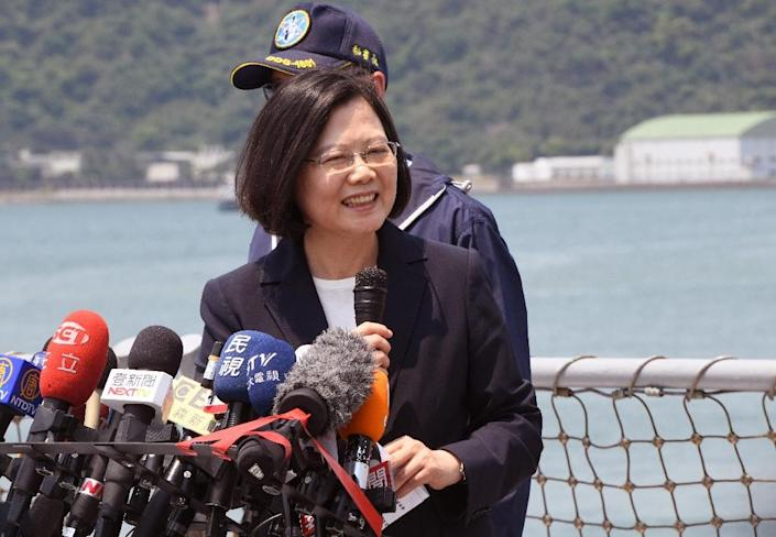 Tsai Ing-wen's comments on the Tiananmen Square crackdown in 1989 are likely to incense Beijing (AFP Photo/SAM YEH)