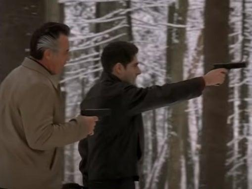 Paulie (Tony Sirico) and Christopher (Michael Imperioli) in classic 'Sopranos' episode 'Pine Barrens'HBO