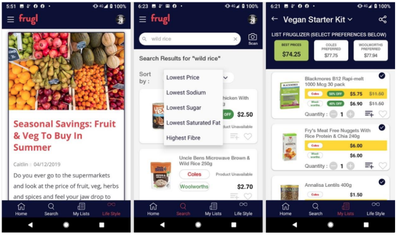 This app could save you big. Image: Frugl