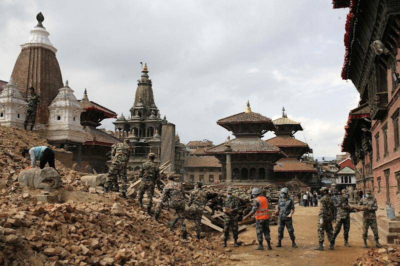 More than 6,621 people were killed by the massive eathquake which devastated Kathmandu's Durbar Square, a UNESCO world heritage site damaged by the earthquake in Kathmandu (AFP Photo/Matthieu Alexandre)