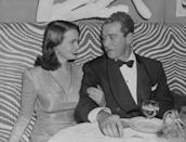 <p>Vanderbilt and her first husband, Pat DeCicco, at the El Morocco before they were married.</p>