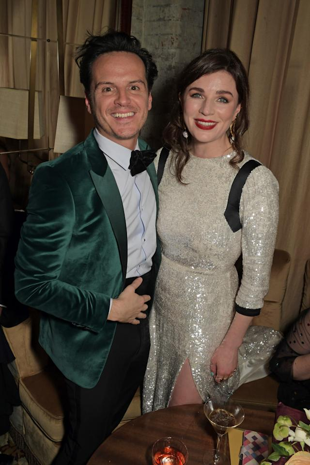 LONDON, ENGLAND - FEBRUARY 02:   Andrew Scott and Aisling Bea pose the Netflix BAFTA after party at Chiltern Firehouse on February 2, 2020 in London, England. (Photo by David M. Benett/Dave Benett/Getty Images for Netflix)