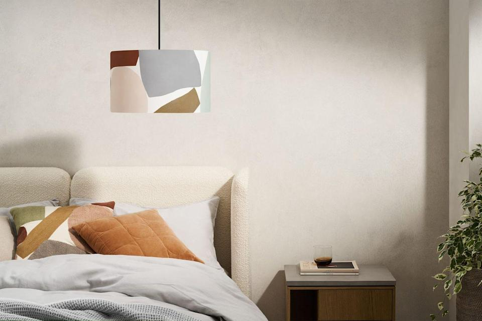 """<p>The Isola lampshade from Made.com features artist Kit Agar's signature painterly shapes. We love its playful collage design and the pastel tones.<br></p><p><strong>Shop now:<a href=""""https://www.made.com/isola-printed-lamp-shade-40cm-multi"""" rel=""""nofollow noopener"""" target=""""_blank"""" data-ylk=""""slk:Isola Printed Lampshade at Made.com"""" class=""""link rapid-noclick-resp""""> Isola Printed Lampshade at Made.com</a></strong></p><p><strong>Follow House Beautiful on <a href=""""https://www.instagram.com/housebeautifuluk/"""" rel=""""nofollow noopener"""" target=""""_blank"""" data-ylk=""""slk:Instagram"""" class=""""link rapid-noclick-resp"""">Instagram</a>.</strong></p>"""