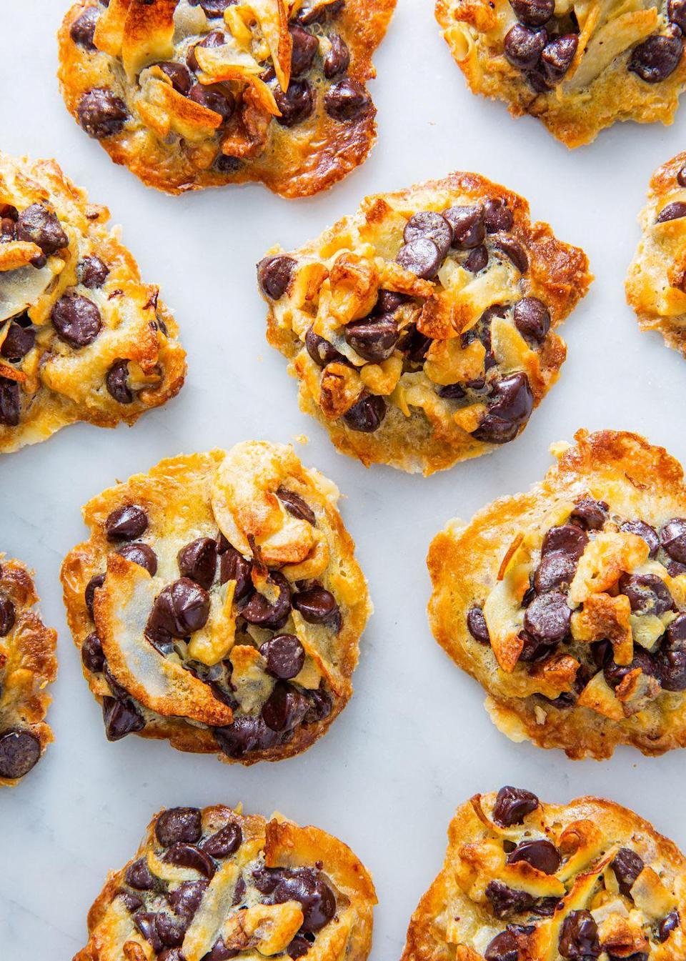 """<p>These cookies are <em>seriously</em> magical. Super easy to make and without any flour, you can feel good about eating way more than just one. </p><p>Get the recipe from <a href=""""https://www.delish.com/cooking/recipe-ideas/a22520519/keto-magic-cookies-recipe/"""" rel=""""nofollow noopener"""" target=""""_blank"""" data-ylk=""""slk:Delish"""" class=""""link rapid-noclick-resp"""">Delish</a>.</p>"""