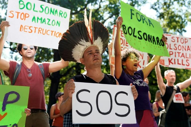 Demonstrations have been held across the world calling for action to protect the Amazon (AFP Photo/Odd ANDERSEN)
