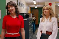 <p>Switching to the 1980s, Tully and Kate are now in their twenties getting started in the workforce. Tully works at the local KPOC TV station, just beginning to be her full glam self, and gets Kate to join the office as an assistant and eventual copy editor. Kate is immediately drawn to their boss Johnny, who used to be a war correspondent, and Tully has a romantic connection there, too (i.e. when she falls through a glass table and Johnny helps her, which almost leads to a kiss). Of course, Kate and Johnny end up dating, which leads to their eventual marriage (but that's not until the next couple of decades!). Tully sees an opportunity to become an on-air news reporter when the lead talent falls sick (it doesn't exactly pan out) and we see the full force of Tully and Kate's journalistic power.- </p> <p> In this decade, we also get a sneak peek at Tully and Kate's college days as roommates at Washington State, where Tully has an affair with her professor, and Kate still struggles with the memory of her mother's affair. Fast forward to their local news days, and Tully is feeling left out when Kate becomes pregnant with Johnny, deciding to take off to New York City once Kate has Marah.</p>