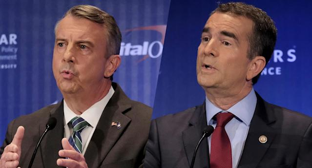 Gubernatorial candidates Ed Gillespie, left, and Lt. Gov. Ralph Northam during a debate in McLean, Va., on Sept. 19, 2017. (Photo: Bonnie Jo Mount/The Washington Post /AP)