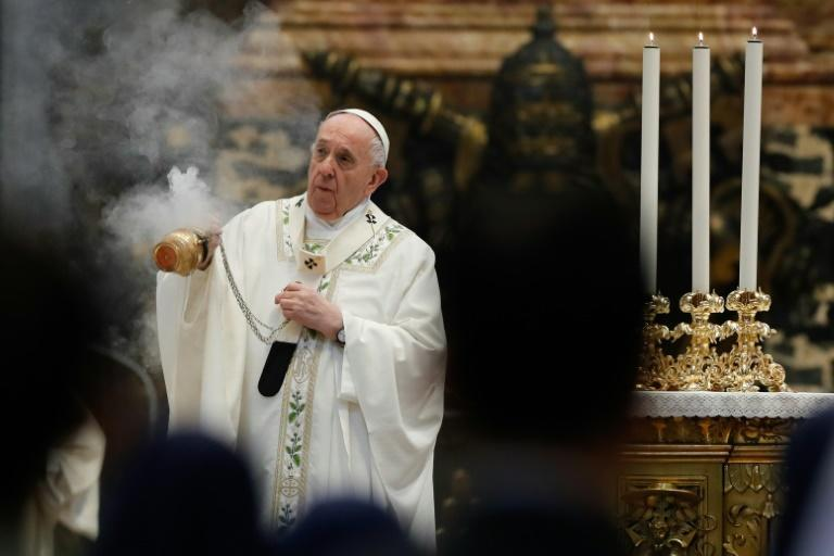 Pope Francis urges peace during a mass in honour of Myanmar