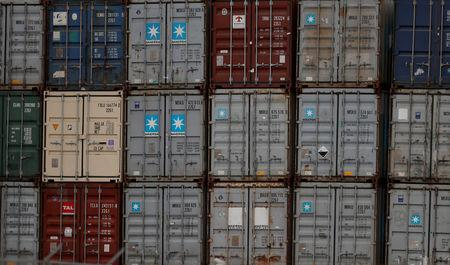 FILE PHOTO: Containers at Lisbon's port