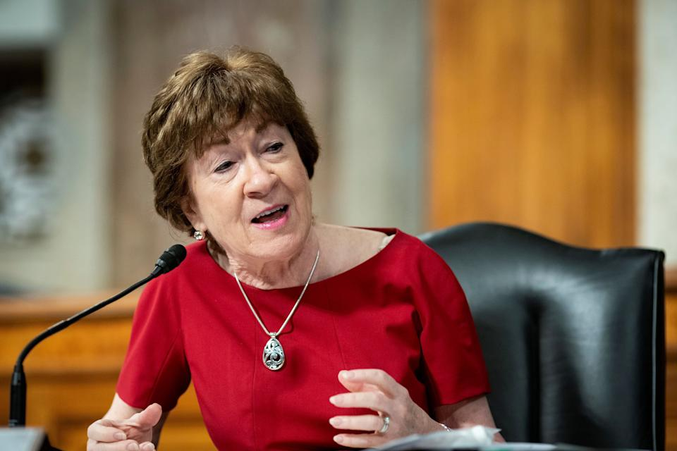 Senator Susan Collins from Maine was the only Republican to vote no. (Photo: REUTERS)