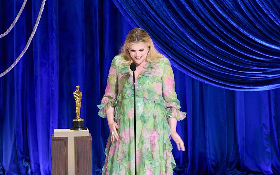 Emerald Fennell accepts the Oscar for Original ScreenplayTodd Wawry/AMPAS/Reuters