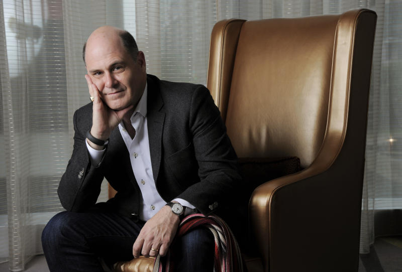 """Matthew Weiner, writer/director of the film """"You Are Here,"""" poses for a portrait on day 3 of the 2013 Toronto International Film Festival on Saturday, Sept. 7, 2013 in Toronto. (Photo by Chris Pizzello/Invision/AP)"""