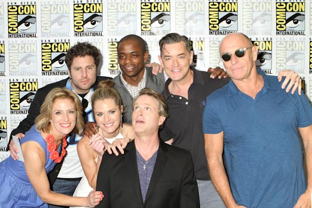 """Psych Press Meet and Greet and Red Carpet"" - Kirsten Nelson, James Roday, Maggie Lawson, Dule Hill, Cary Elwes, Timothy Omundson and Corbin Bernsen at USA Network Press Meet and Greet at Hilton Bayfront Hotel in San Diego, CA on July 18th, 2013."