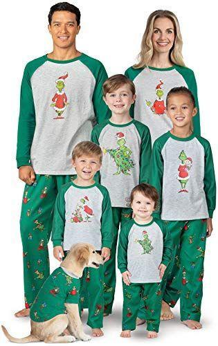 """<p><strong>PajamaGram</strong></p><p>amazon.com</p><p><strong>$45.99</strong></p><p><a href=""""https://www.amazon.com/dp/B07BF67LTJ?tag=syn-yahoo-20&ascsubtag=%5Bartid%7C10050.g.4956%5Bsrc%7Cyahoo-us"""" rel=""""nofollow noopener"""" target=""""_blank"""" data-ylk=""""slk:Shop Now"""" class=""""link rapid-noclick-resp"""">Shop Now</a></p><p>Curl up in these fun pajamas and queue up <em>The Grinch.</em></p>"""