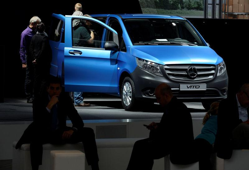 FILE PHOTO: A Mercedes Benz Vito van at the IAA truck show in Hanover in 2014