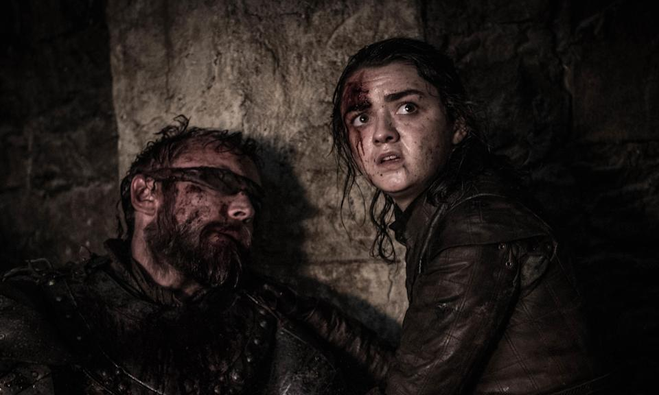 Richard Dormer and Maisie Williams in the Game of Thrones (Credit: HBO)