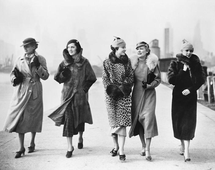 <p>Throwing on a long fur coat and coordinating hat was clearly the move back in 1935. </p>
