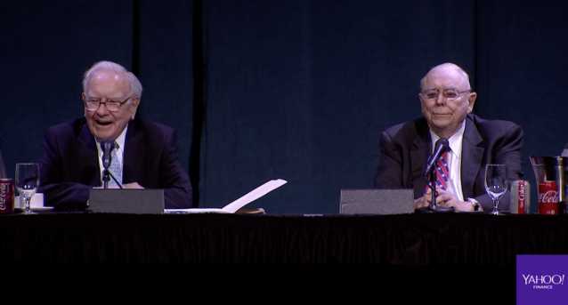 Warren Buffett and Charlie Munger at this year's Berkshire Hathaway Annual Shareholder Meeting.
