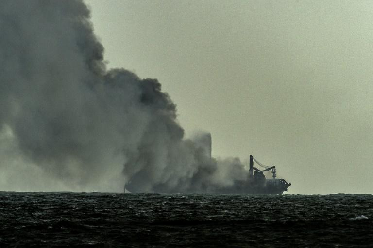 The container ship MV X-Press Pearl has been burning for the ninth consecutive day in the sea off Sri Lanka's Colombo Harbour