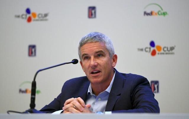 Gambling is coming: US PGA Tour commissioner Jay Monahan (AFP Photo/JUNG Yeon-Je)
