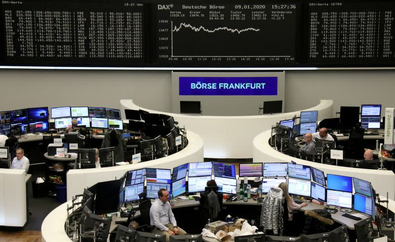 Europe stocks resume record run as Middle East tensions ease
