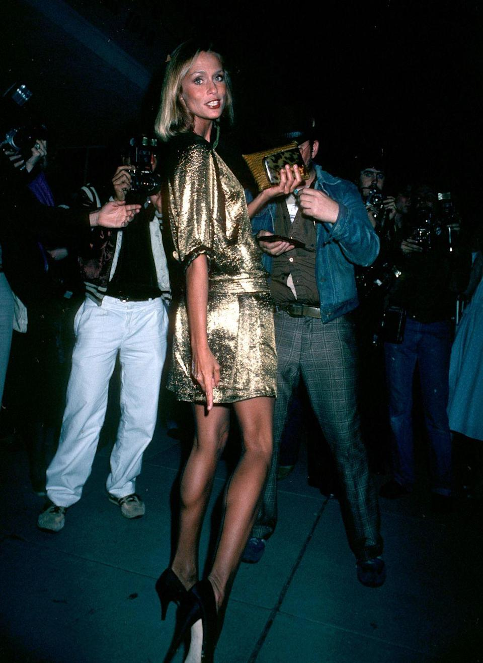 <p>Although sporting a mini dress was definitely not traditional Oscars style, Hutton made sure to break dress code and have fun while doing it. More room for dancing, right?</p>