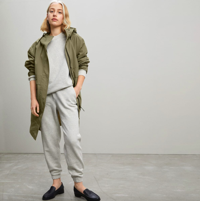 The ReNew Anorak in Bay Leaf. Image via Everlane.