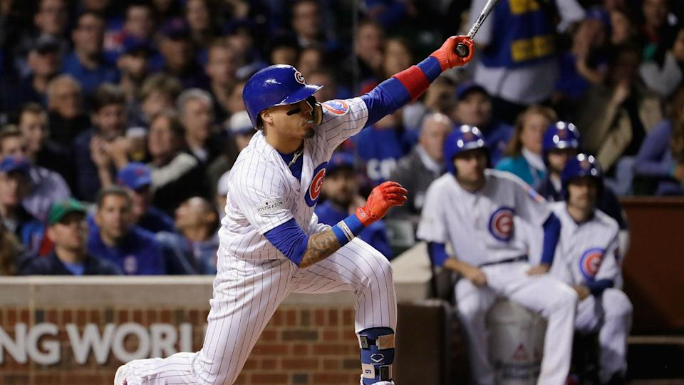 Javy Baez and the Cubs start a three-game series with the rival Brewers on Monday. (AP)