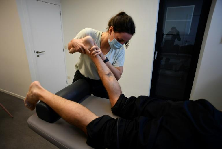 Bellin still has to have regularly physiotherapy sessions, five years after the Brussels attacks