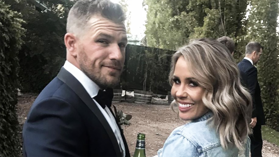 Aaron and Amy Finch married in 2018. Picture: Instagram