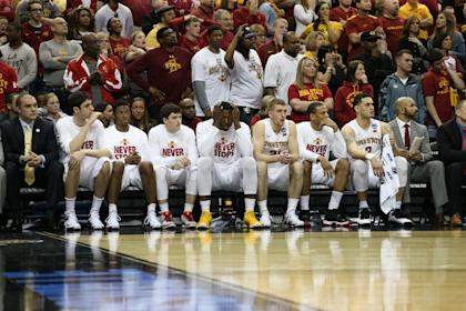 Iowa State reacts during the second half of its loss to UAB. (USAT)