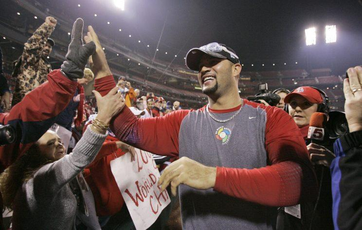 Albert Pujols led the Cardinals to two World Series titles. (AP Photo)