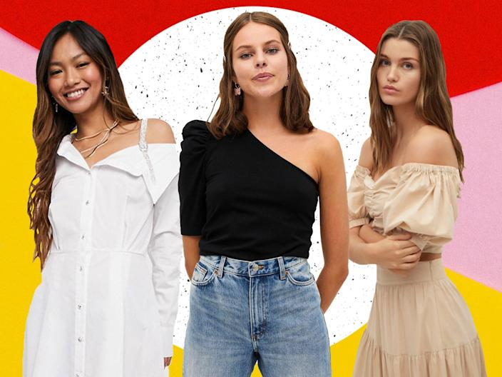 <p>Whether they're for your appointment or not, off-the-shoulder tops make a versatile addition to your wardrobe</p> (The Independent)