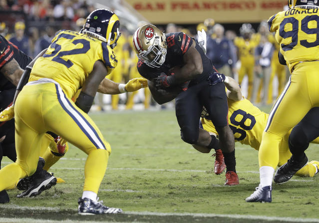 "Carlos Hyde tells Yahoo Sports: ""I live for the moment when coach calls my number and you know it's a down where we really need a play and I come through."" (AP)"
