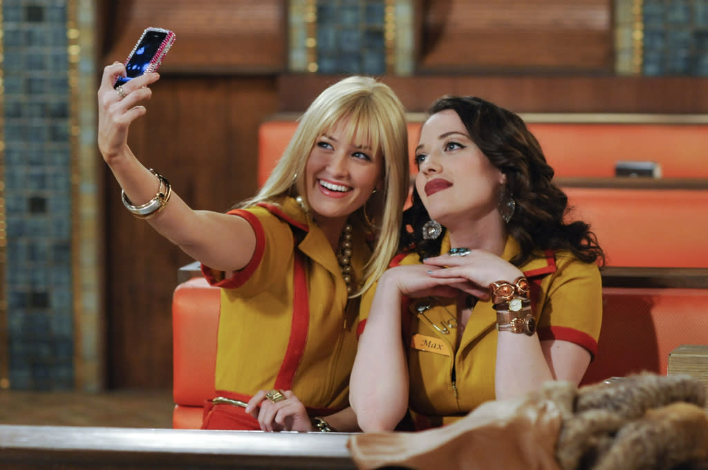 """<p><b>10. Max & Caroline (""""<a href=""""http://tv.yahoo.com/2-broke-girls/show/47412"""">2 Broke Girls</a>"""")</b><br><br>  We may not love this show, and we certainly don't care about their fledgling cupcake business, but there's something about the actual two broke girls (who have nothing in common aside from their current income status) that keeps us watching. It's partly how they sometimes have a pet horse, not to mention how they have an ability to fend off unwanted advances from really pervy guys, but it's mostly Max's pleasure at discovering rich people's decadent indulgences and Caroline's horror at working disgusting jobs. </p>"""