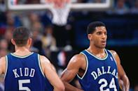 <p>The trio of Kidd, Jackson and Jamal Mashburn was supposed to make the Mavericks a major contender for years to come in the mid-1990s. But all three players were in their early 20s and had plenty of egos to go around. Kidd and Jackson especially butted heads while Mashburn went down with an injury in 1995. It became clear the team needed to be split up, starting with the trading of Kidd to the Suns in late 1996. Jackson and Mashburn were traded later that season. </p>