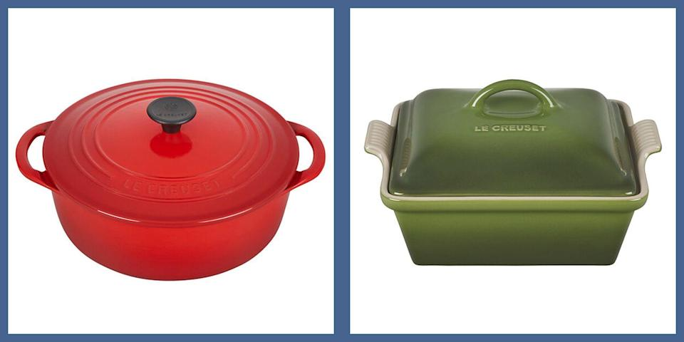 """<p>It's one of the great dilemmas of the post-Nancy Meyers era: If you have a stylish kitchen, and there's not a colorful <a href=""""https://www.lecreuset.com/factory-to-table-sale"""" rel=""""nofollow noopener"""" target=""""_blank"""" data-ylk=""""slk:Le Creuset"""" class=""""link rapid-noclick-resp"""">Le Creuset</a> Dutch oven artfully displayed in it, can you really call it a stylish kitchen? At this point, the French cookware brand's signature enameled cookware is more than just a culinary workhorse, it's a <a href=""""https://www.townandcountrymag.com/leisure/dining/g29576420/cooking-gifts/"""" rel=""""nofollow noopener"""" target=""""_blank"""" data-ylk=""""slk:foodie status symbol"""" class=""""link rapid-noclick-resp"""">foodie status symbol</a>, imparting an air of Ina Garten-esque effortless chic to any kitchen. Naturally, their highly coveted staples, like their essential Dutch oven, don't come cheap, which makes the news that Le Creuset is currently holding an ultra-rare Factory to Table Sale even more thrilling. </p><p>From now through April 19, the near-century old brand is offering major discounts on some of their must-have cookware, including sauce pans, cocottes, grill pans, and yes Dutch ovens, for as much as 50% off. Here, we've rounded up some of the cheerful styles we'll be adding to our carts right away—<a href=""""https://www.lecreuset.com/factory-to-table-sale"""" rel=""""nofollow noopener"""" target=""""_blank"""" data-ylk=""""slk:head to Le Creuset"""" class=""""link rapid-noclick-resp"""">head to Le Creuset</a> to scope out the full sale. </p>"""