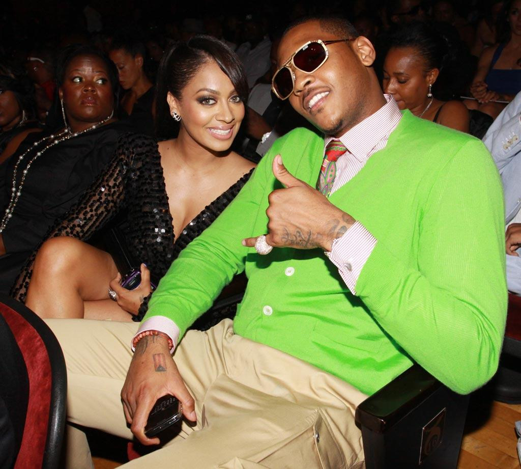 "Former MTV veejay La La Vazquez and Denver Nuggets star Carmelo Anthony recently tied the knot in NYC. Johnny Nunez/<a href=""http://www.wireimage.com"" target=""new"">WireImage.com</a> - June 27, 2010"