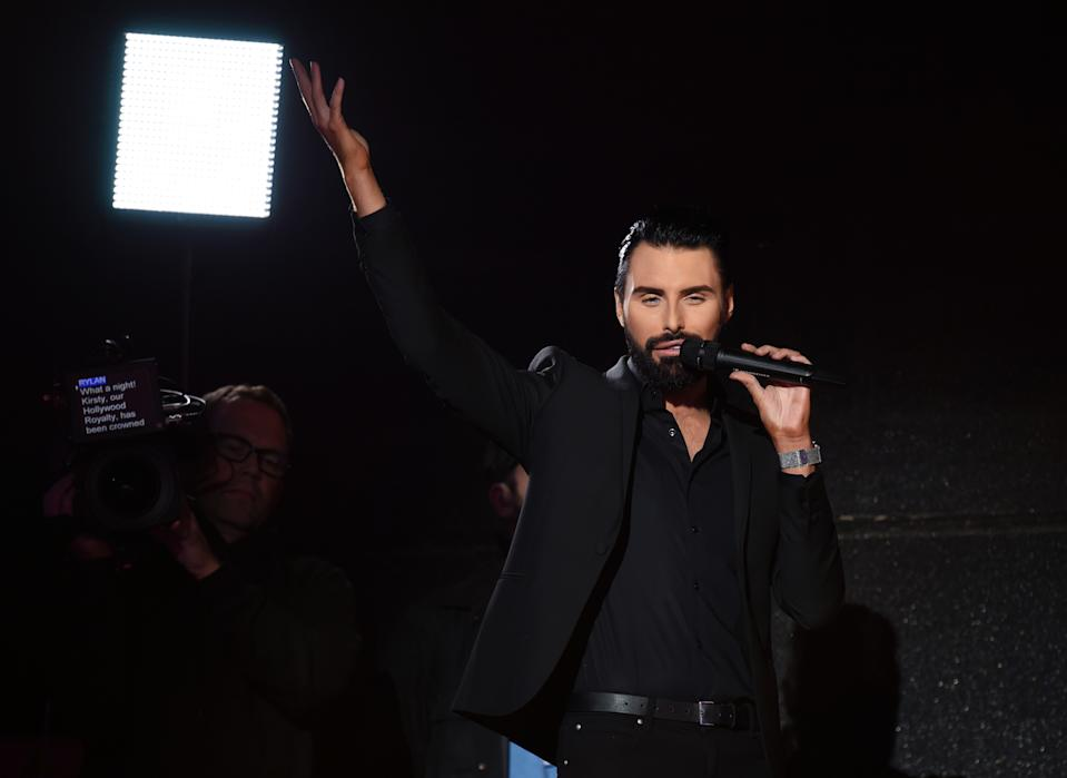 Rylan Clark-Neal during the Celebrity Big Brother final 2018 at Elstree Studios on September 10, 2018 in Borehamwood, England.  (Photo by Stuart C. Wilson/Getty Images)