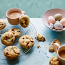 """<p>These American-style cookies are inspired by simnel cake, with almonds, raisins and spice. We've added white chocolate for extra indulgence, but for a double almond hit, swap it for 50g (2oz) marzipan cut into chunks.</p><p><strong><br>Recipe: <a href=""""https://www.goodhousekeeping.com/uk/food/recipes/a576275/simnel-white-chocolate-cookies/"""" rel=""""nofollow noopener"""" target=""""_blank"""" data-ylk=""""slk:Simnel and white chocolate cookies"""" class=""""link rapid-noclick-resp"""">Simnel and white chocolate cookies</a></strong></p>"""